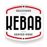 Autoadesivo d'annata del segno di kebab illustrazione di stock