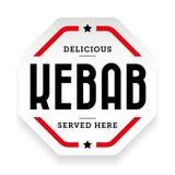 Autoadesivo d'annata del segno di kebab royalty illustrazione gratis