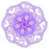 autoadesivo decorativo Nuvola decorativa riccia di retro stile con le gocce di pioggia Tatuaggio della mandala Elemento decorativ Immagine Stock