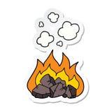 autoadesivo dei carboni caldi di un fumetto illustrazione vettoriale