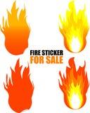 Autoadesivo del fuoco da vendere Fotografia Stock Libera da Diritti