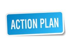 autoadesivo del quadrato di piano d'azione illustrazione di stock