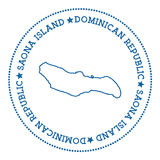 Autoadesivo della mappa dell'isola di Saona Immagine Stock