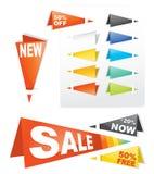 Autoadesivo della modifica di vendita illustrazione di stock