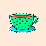 Autoadesivo della tazza di tè Fotografia Stock Libera da Diritti
