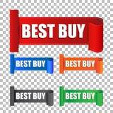 Autoadesivo di Best Buy Illustrazione di vettore dell'etichetta sul backgrou Fotografia Stock Libera da Diritti