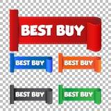 Autoadesivo di Best Buy Illustrazione di vettore dell'etichetta sul backgrou Immagine Stock