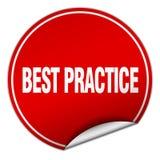 autoadesivo di best practice Illustrazione Vettoriale