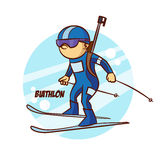 Autoadesivo di biathlon degli sport invernali Immagine Stock Libera da Diritti