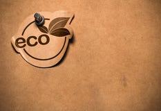 Autoadesivo di Eco Fotografie Stock Libere da Diritti