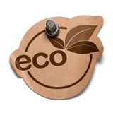 Autoadesivo di Eco sopra bianco Fotografia Stock Libera da Diritti