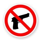 Autoadesivo di nessun segno della pistola Fotografia Stock