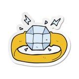 autoadesivo di un anello del fumetto con la gemma enorme royalty illustrazione gratis