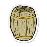 autoadesivo di un barilotto di legno del fumetto royalty illustrazione gratis
