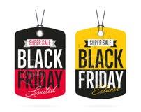 Autoadesivo di vendita di Black Friday isolato Illustrazione Vettoriale