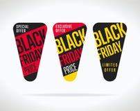 Autoadesivo di vendita di Black Friday isolato Royalty Illustrazione gratis