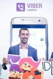 Autoadesivo di Viber, modo di Bipa ora, Zagabria, Croazia Immagini Stock