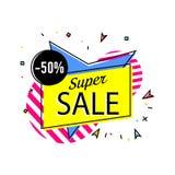 Autoadesivo eccellente di vendita nello stile lineare d'avanguardia Fotografia Stock