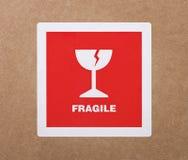 Autoadesivo fragile fotografia stock