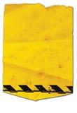 Autoadesivo giallo Fotografia Stock Libera da Diritti
