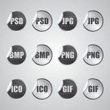 Autoadesivo grafico di formato di file Immagini Stock