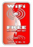 Autoadesivo libero di Wi-Fi di rosso illustrazione vettoriale