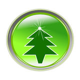 Autoadesivo lucido con l'albero di natale Immagine Stock Libera da Diritti