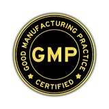 Autoadesivo rotondo di colore dell'oro e del nero GMP Immagine Stock