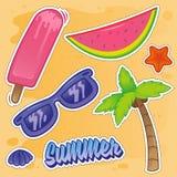 Autoadesivo stabilito di estate royalty illustrazione gratis