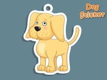 Autoadesivo sveglio di Labrador del cucciolo del cane del fumetto Illustrazione di vettore Wi Immagine Stock Libera da Diritti