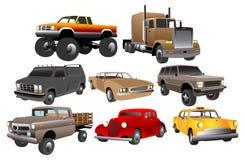 Autoansammlungen für Ihre Auslegung Stockfotos