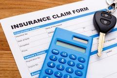 AutoAnspruch auf Versicherungsleistungen Stockfotografie