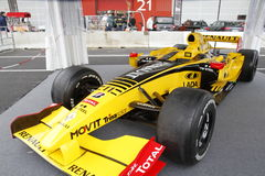 Renault-Rennwagen Stockbild