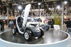 Renault Twizy in der Bologna-Autoausstellung Stockfotografie