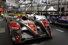 Audi-Rennläufer in der Bologna-Autoausstellung Stockfotografie
