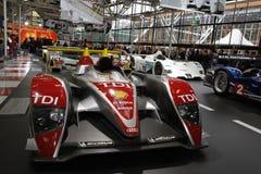 Audi-Rennläufer in der Bologna-Autoausstellung Stockfotos
