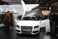 Weißer Audi-Tourenwagen  Lizenzfreies Stockfoto
