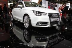 Audi A1 in der Bologna-Autoausstellung Lizenzfreie Stockbilder