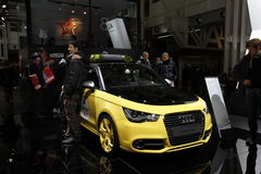 Audi in der Bologna-Autoausstellung Lizenzfreie Stockfotos