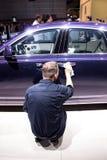 Autoausstellung Stockbilder