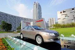 Autoausstellung von im Freien Stockfotos