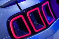 Autoauto LEIDENE Staartlichten Royalty-vrije Stock Afbeelding
