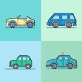 Autoautomobil konvertierbares Cabriolettaxi Mini Stockbild