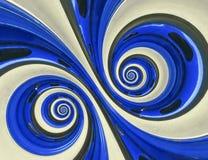 Autoautomobilradfelgereifendoppeltspiralenzusammenfassung Fractalhintergrund Blaues Radfelgespiraleneffektmuster-Zusammenfassung  vektor abbildung