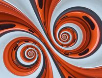 Autoautomobilradfelgereifendoppeltspiralenzusammenfassung Fractalhintergrund Orange Radfelgespiraleneffektmuster-Zusammenfassung  vektor abbildung