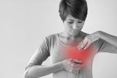 Autoavaliação do câncer da mama Foto de Stock