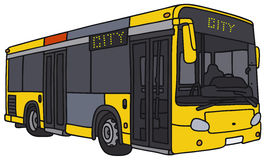 Autobús amarillo de la ciudad ilustración del vector