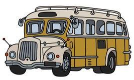 Autobús amarillo del vintage Fotos de archivo