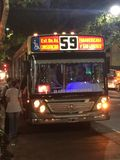 59 autobús, Buenos Aires Fotografía de archivo