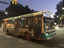 92 autobús, Buenos Aires Foto de archivo libre de regalías